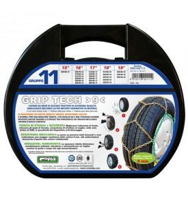 Catene da neve omologate - Cora Grip Tech 9mm - Gruppo 11 - 15'' - 205/80 R15
