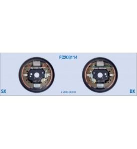 Kit freno posteriore a tamburo per FIAT  Grande Punto, Panda, Fiorino, Qubo - LANCIA Y - CITROEN Nemo - PEUGEOT Bipper