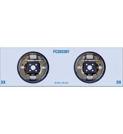 Kit freno posteriore a tamburo  per NISSAN Note, Micra - RENAULT Modus, New Modus, Clio