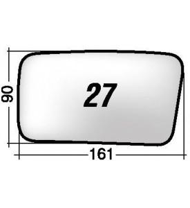 Specchio DX di ricambio retrovisore AUTOBIANCHI Y10
