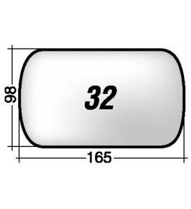 Specchio SX di ricambio per retrovisore esterno ALFA ROMEO 164